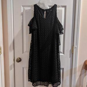 🆕WT Always Indigo Black Lace Overlay Dress
